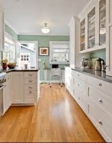 Colors Green Kitchen Ideas Green Wall Color With White Kitchen Cabinet For Contemporary Kitchen Decorating Ideas Using
