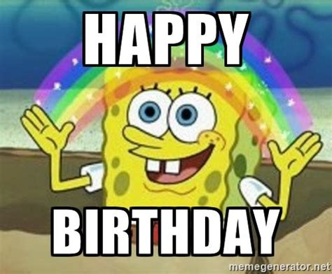 Spongebob Birthday Meme - 1000 ideas about sponge bob birthday on pinterest