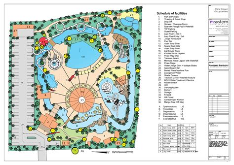 amusement park floor plan waterpark koh samui thailand m systems architects