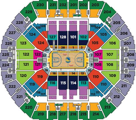oracle arena warriors seating chart tickets map golden state warriors