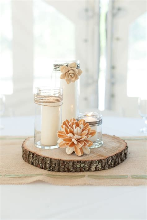 centerpieces made from nature a rustic nature inspired wedding nature inspired wedding wood flowers and rustic centerpieces