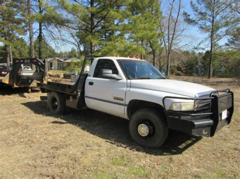 1994 dodge 1 ton 12 v cummins 5 speed with flatbed for