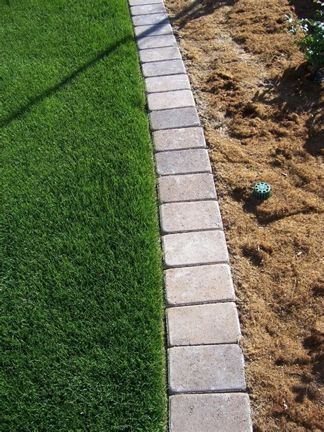 Landscape Edging With Pavers The 2 Minute Gardener Photo Paver Mow