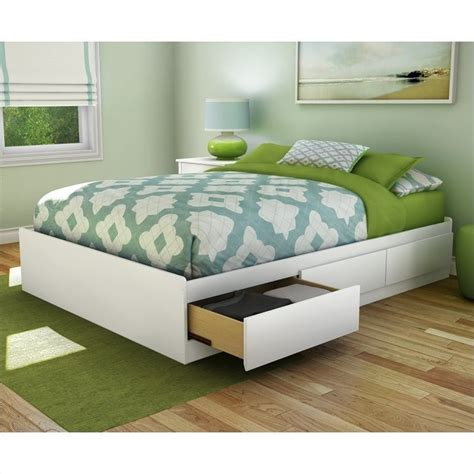 storage full bed south shore full storage pure white bed ebay