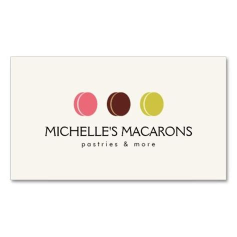 pastry chef business card templates macaron trio logo for bakery pastry chef business