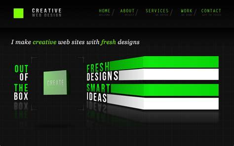 creative web page design creative web design one page mania