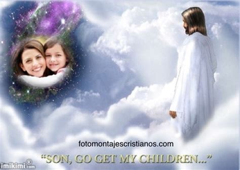 imagenes de dios recibiendo en el cielo fotomontajes cristianos