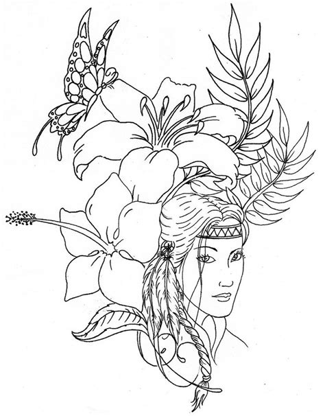 native american coloring pages printable beautiful