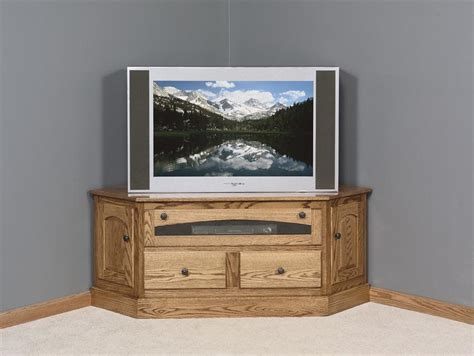 Furniture Corner Tv Stand by Amish Traditional Plasma Hdtv Corner Tv Stand Amish Tv