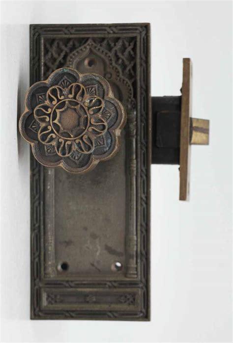 bronze knob set with lock olde things