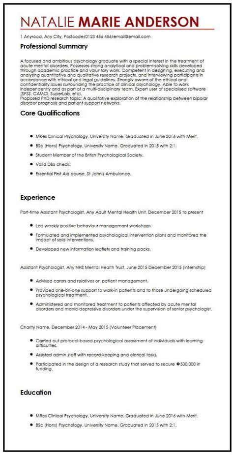 Resume For Phd Application