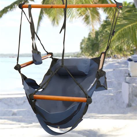 Patio Hammock Chair New Deluxe Hammock Hanging Patio Tree Sky Swing Chair Outdoor Porch Lounge Ebay