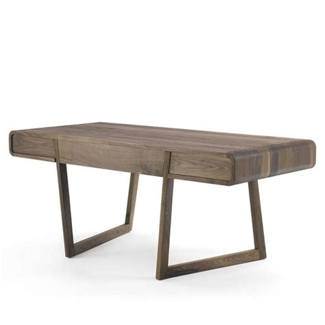 stylish office desks stylish office desk in solid walnut wood for sale at 1stdibs