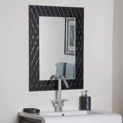 bathroom ideas black decorative framed mirror white