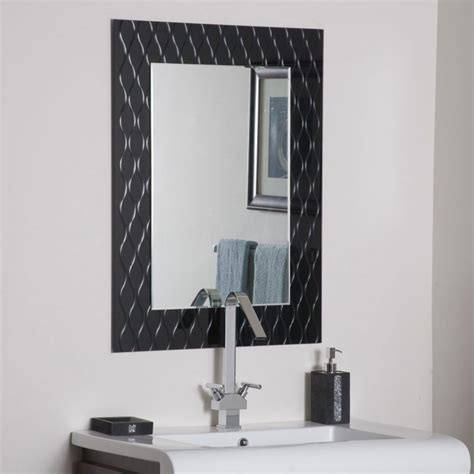 decorative bathroom wall mirrors bathroom ideas black decorative framed mirror over white
