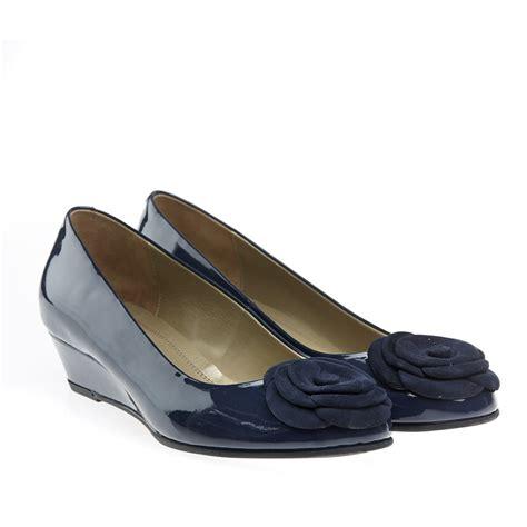blue dal gabriel low wedge court shoe 2074410
