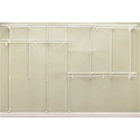 7 Foot Wardrobe Closetmaid Shelftrack 7 Ft 10 Ft White Closet