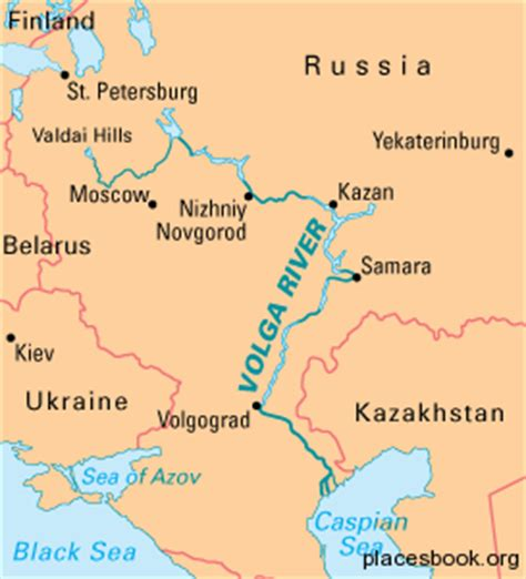 volga river map volga river all places and travel tourism directory