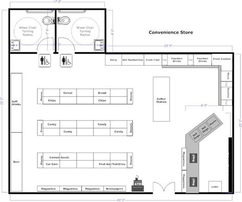 small shop floor plans convenience store floorplan doc pinterest