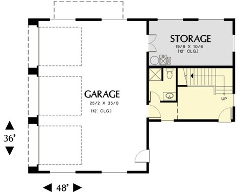 detached guest house plans detached garage with guest house potential 69570am architectural designs house plans