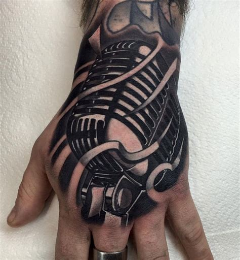 microphone retro tattoo retro microphone hand tattoo hebrew tattoo jewish tattoo