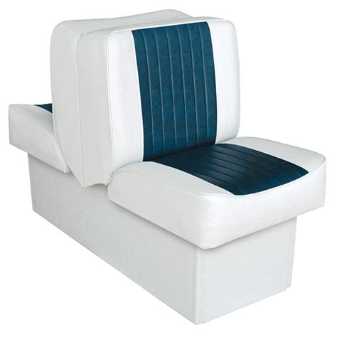 wise marine lounge seats wise seating 10 quot base run a bout lounge seat white navy