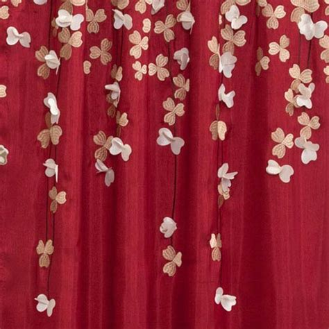 lush decor flower drop curtain panel flower drop red window curtain panel lush decor panels