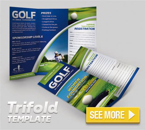 golf brochure templates golf event flyer and badge template graphicriver