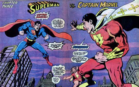 superman vs captain marvel shazam silver age superman and captain marvel vs world breaker