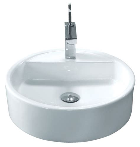 18 inch bathroom sink 18 inch round porcelain ceramic single hole countertop