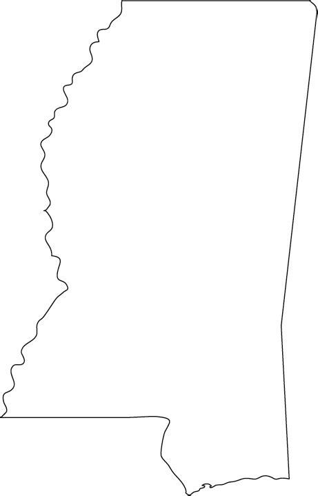 Mississippi Outline Map