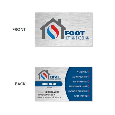 hvac business cards templates business cards hvac images card design and card template