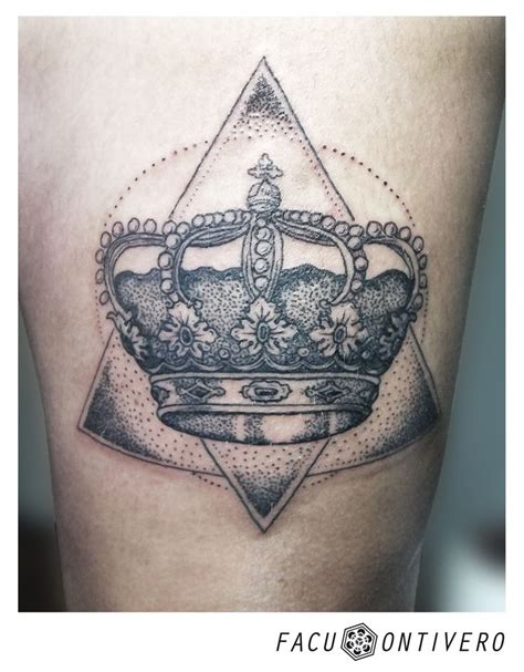 corona tattoo dotwork geometric krown corona my tattoos
