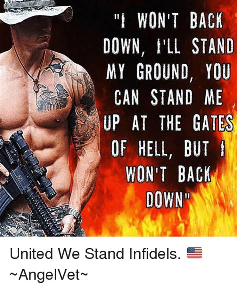 Brits Wont Back Up by Lit Won T Back I Ll Stand My Ground You Can Stand Me