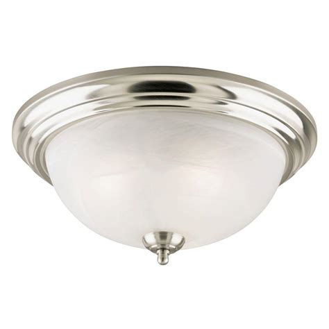 White Glass Ceiling Light Westinghouse 3 Light Brushed Nickel Interior Ceiling Flushmount With Frosted White Alabaster