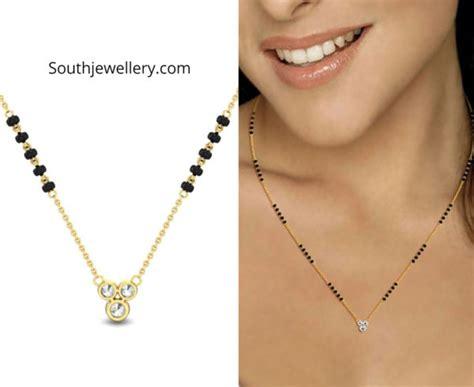 light weight fancy mangalsutra designs indian jewellery