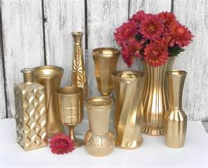 metallic gold vase collection gold vases for weddings