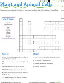 life science crossword plant and animal cells worksheet