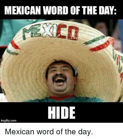 Memes Of The Day - memes meme mexican word of the day hide d sizzle