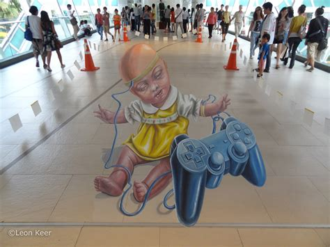 3d Artist by 3d Bangkok Livingarts By Keer 3d Painting By Chalk