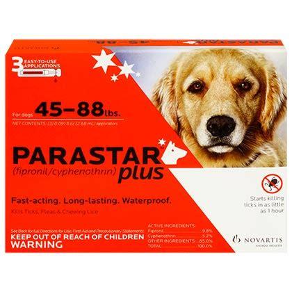 parastar plus for dogs parastar plus 6pk 45 88lb flea tick ebay