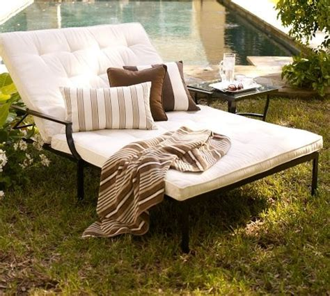 pottery barn chaise cushion 1000 images about garden furniture on pinterest