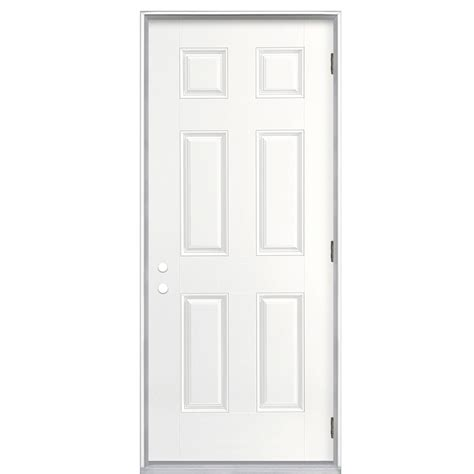 outswing doors exterior shop reliabilt 36 in outswing fiberglass entry door at