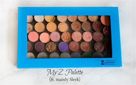 Eyeshadow Z Palette my z palette ft sleek the blushing giraffe
