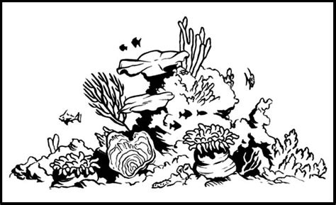 Clipart Of A Sketched Reef by Island Lastavica Mamula Divemontenegro