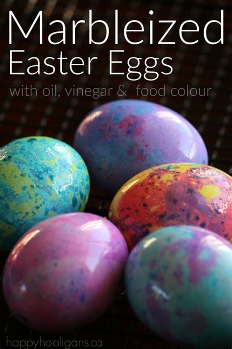 how to dye eggs with food coloring without vinegar how to make marbleized easter eggs happy hooligans