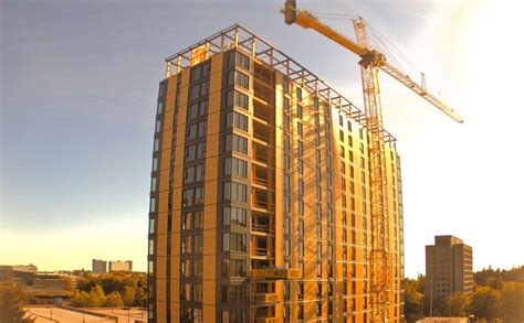 brock commons the world s the world s tallest timber building was just topped