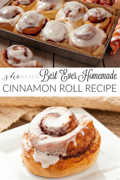 the best cinnamon best cinnamon roll recipe shesaved 174