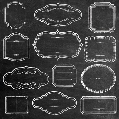 chalk pattern overlay photoshop rustic chalk frames clipart chalkboard clipart by