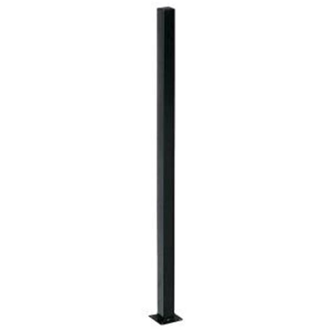 alert 2 in x 2 in x 4 ft black steel fence post